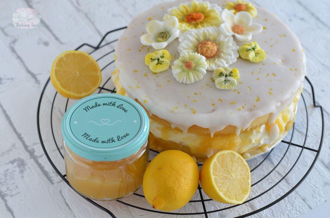 Lemon Curd Torte Mit Fruhlingsblumen Ein Rezept Zum Muttertag My Baking Family